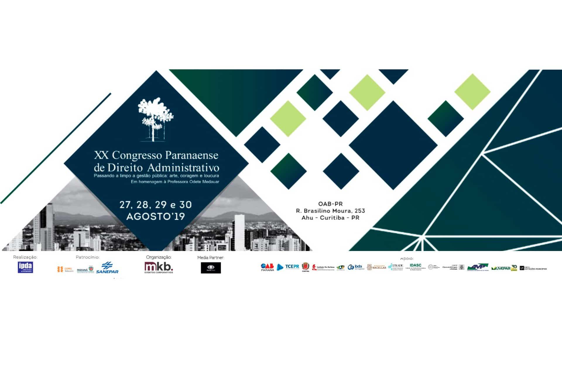 XX Congresso Paranaense de Direito Administrativo
